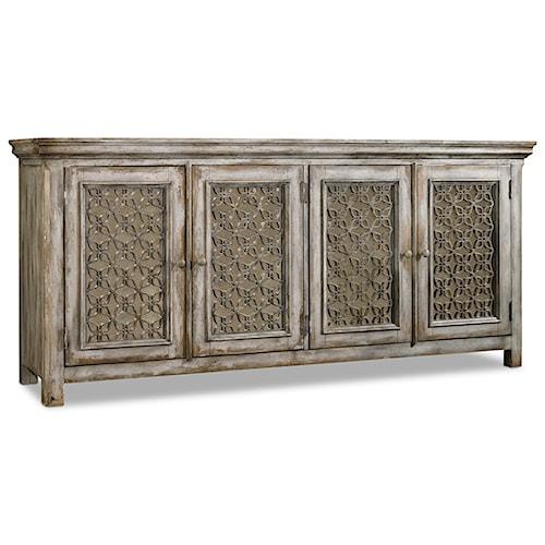 Hooker Furniture Mélange Dorian Credenza with 4 Doors