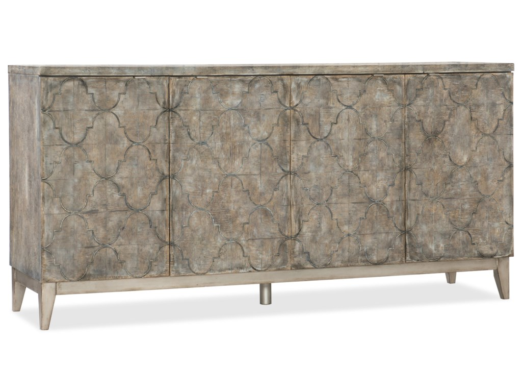 Hooker Furniture MelangeFour Door Sideboard with Adjustable Shelves