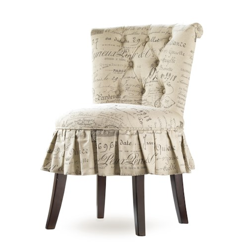 Hooker Furniture Mélange Fifi Vanity Chair with Button Tufted Backrest and Midi Skirt