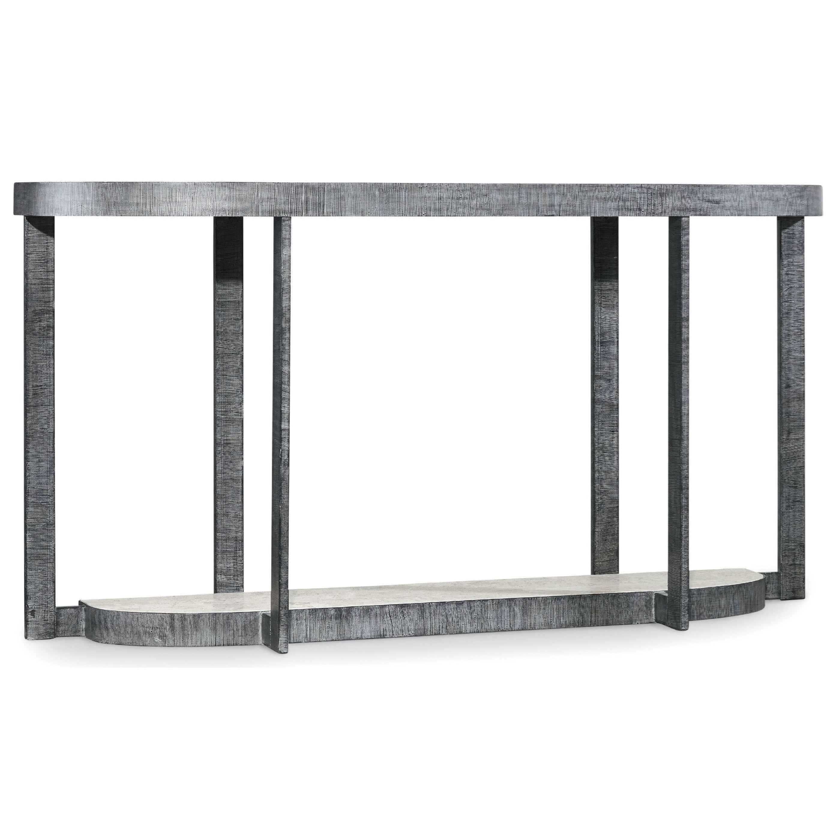 Hooker Furniture Mill Valley Contemporary Demilune Console Table With  Marble Tabletop