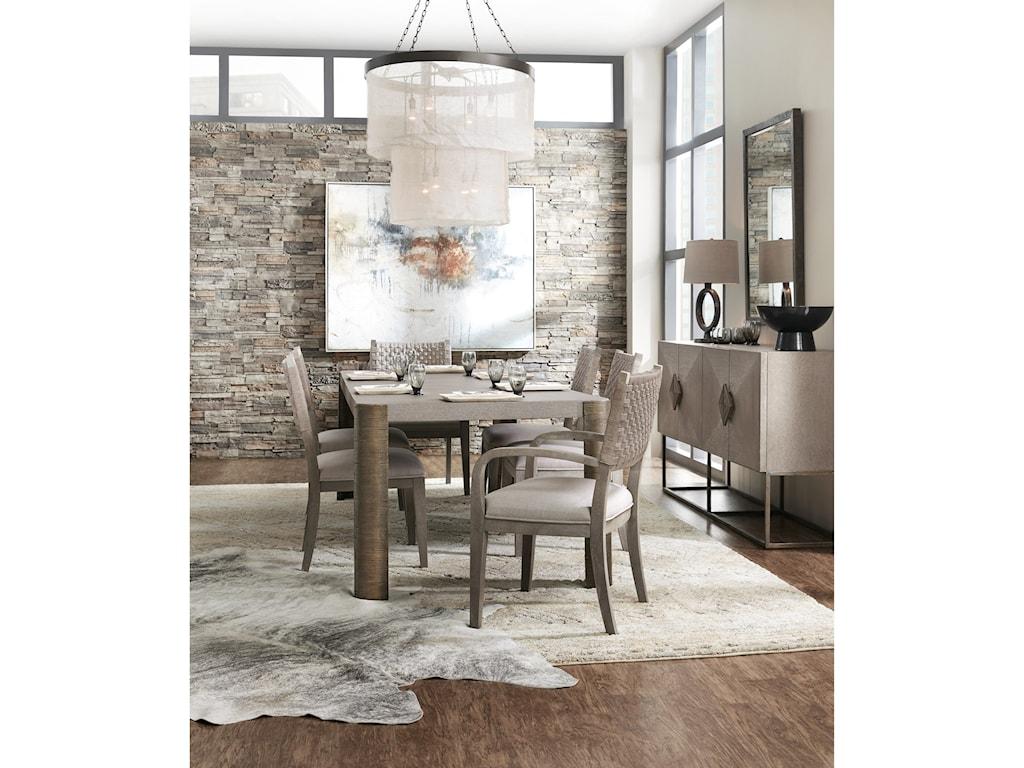 Hooker Furniture Miramar - CarmelArtemis Woven Arm Chair