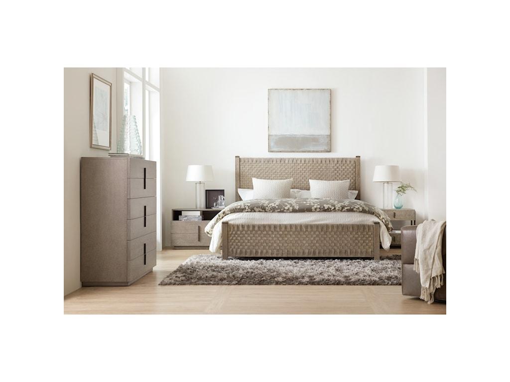 Hooker Furniture Miramar - CarmelLucio Queen Woven Panel Bed