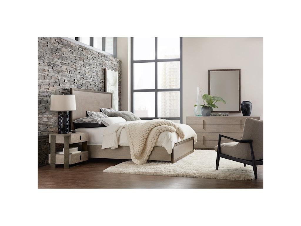 Hooker Furniture Miramar - CarmelSimone Queen Metal Frame Bed