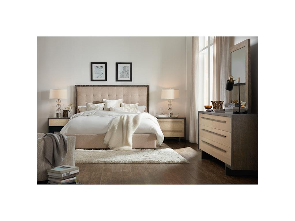 Hooker Furniture Miramar - Point ReyesAngelico Queen Upholstered Bed