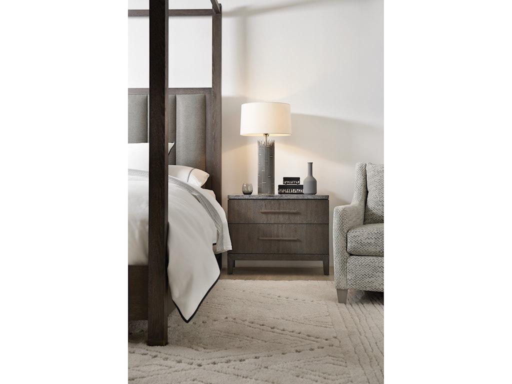 Hooker Furniture Miramar AventuraSan Marcos Stone Top Nightstand
