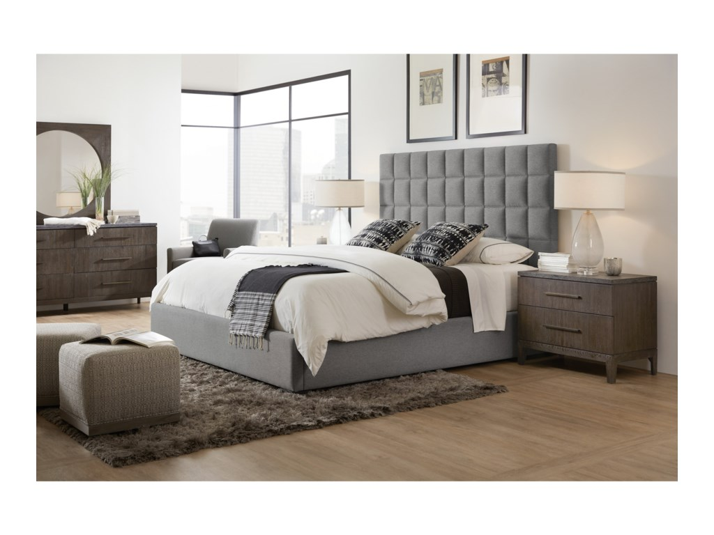 Hooker Furniture Miramar AventuraMoreno Queen Box Tufted Bed