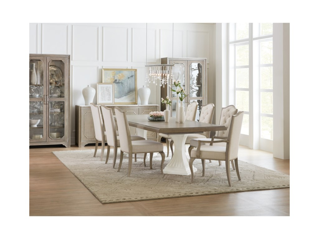 Hooker Furniture Modern RomanceDouble Pedestal Dining Table