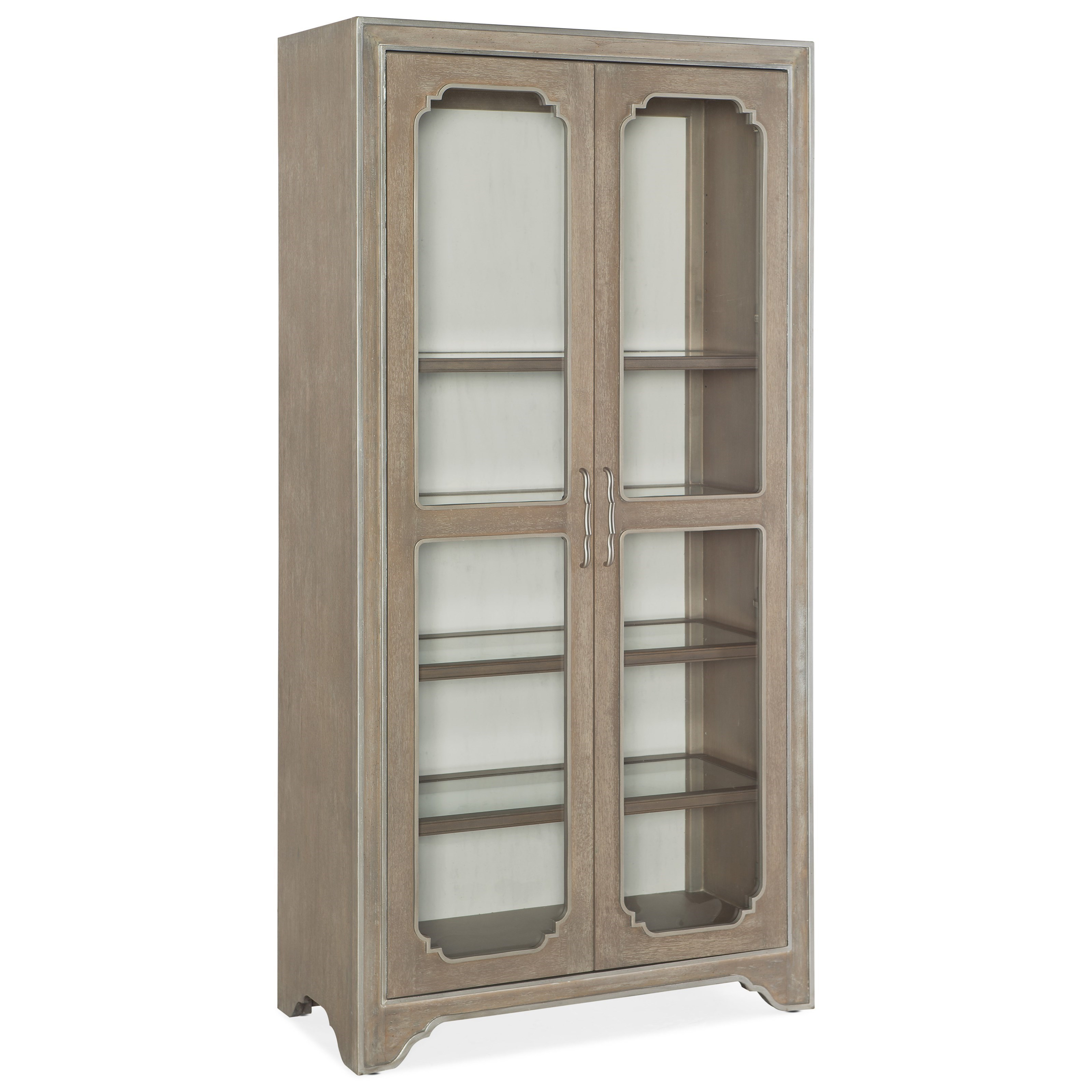 Hooker Furniture Modern Romance Transitional Display Cabinet With  Adjustable Shelves And Touch Lighting   Fashion Furniture   China Cabinets