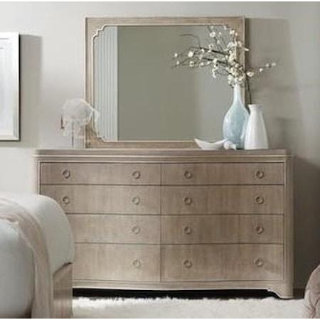 Eight-Drawer Dresser and Mirror Set