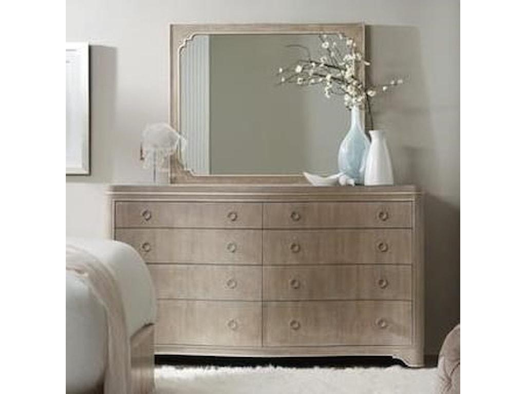 Hooker Furniture Modern RomanceEight-Drawer Dresser and Mirror Set