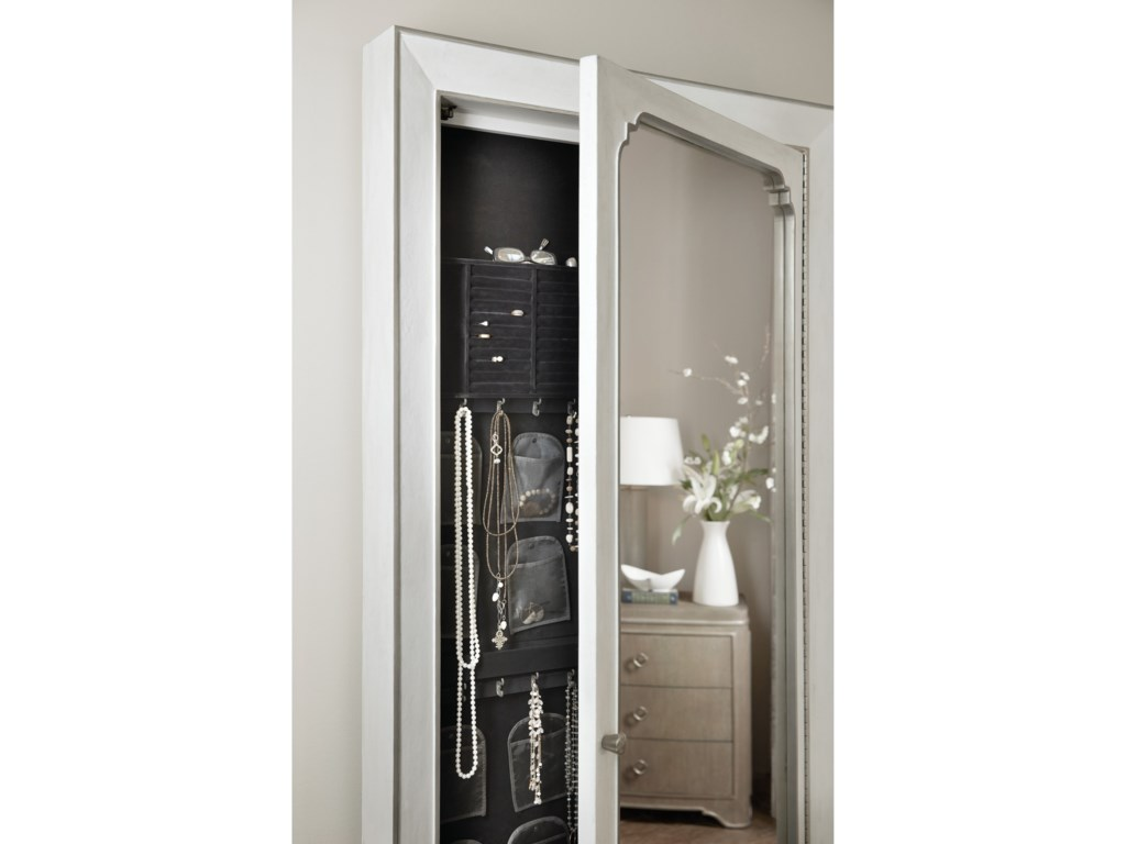 Hooker Furniture Modern RomanceFloor Mirror with Jewelry Storage