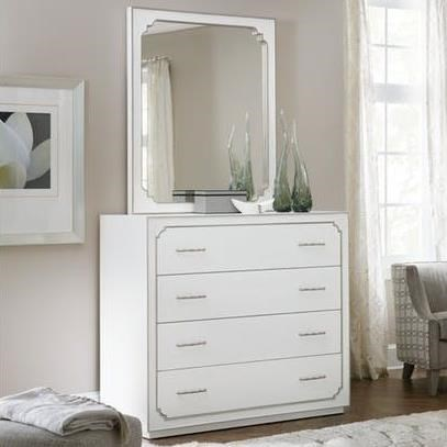 Hooker Furniture Modern RomanceFour-Drawer Bureau and Mirror Set