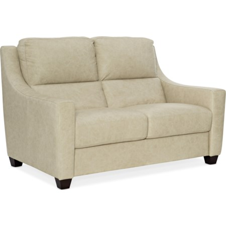 Leather Stationary Loveseat