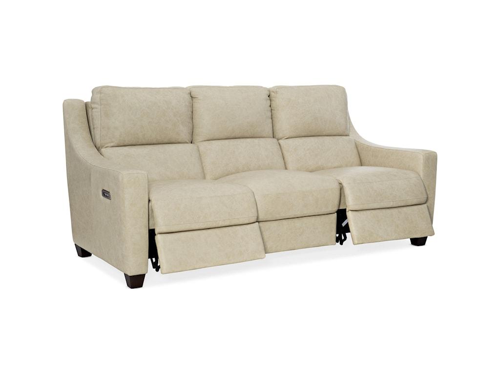 Hooker Furniture MontiLeather Power Sofa w/ Power Headrest