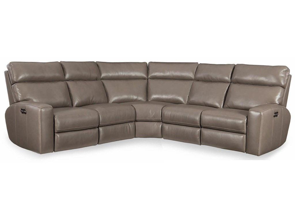 Hooker Furniture Mowry Three Piece Power Reclining Sectional Sofa