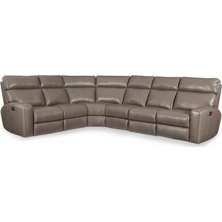 4 PC Pwr Motion Sectional w/ Pwr Hdrest