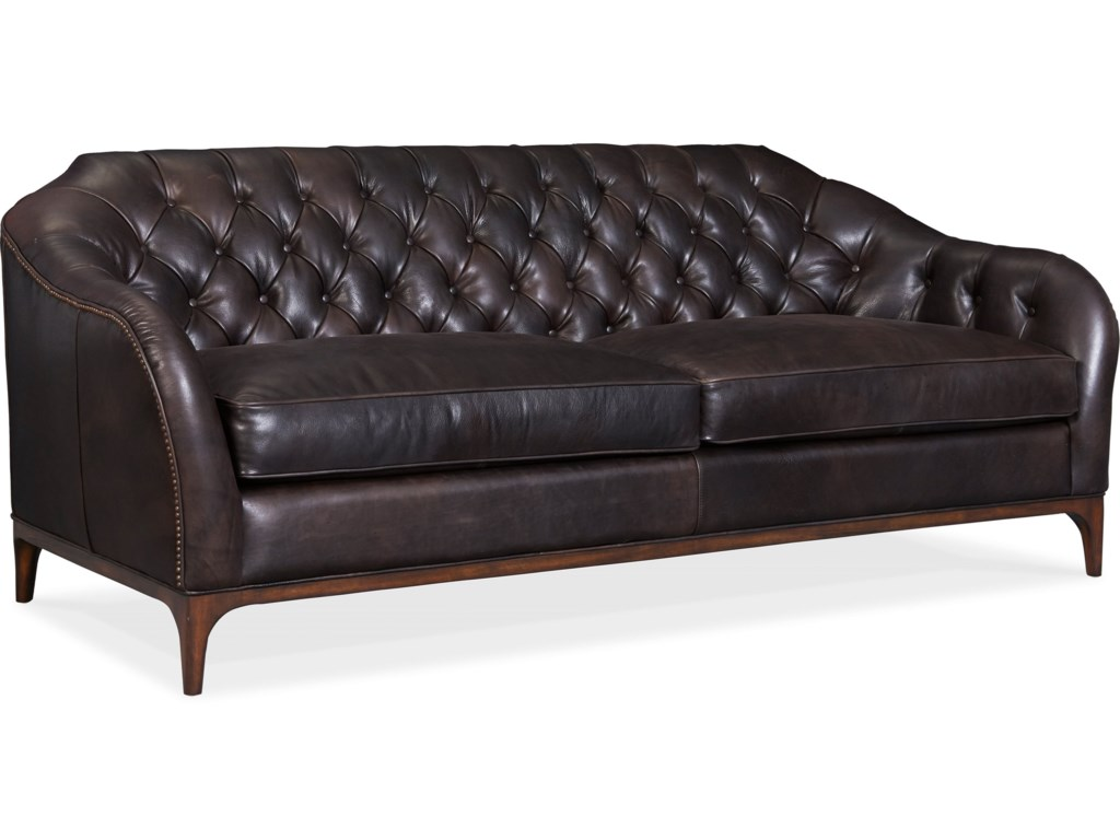 Hooker Furniture MozartLeather Stationary Sofa