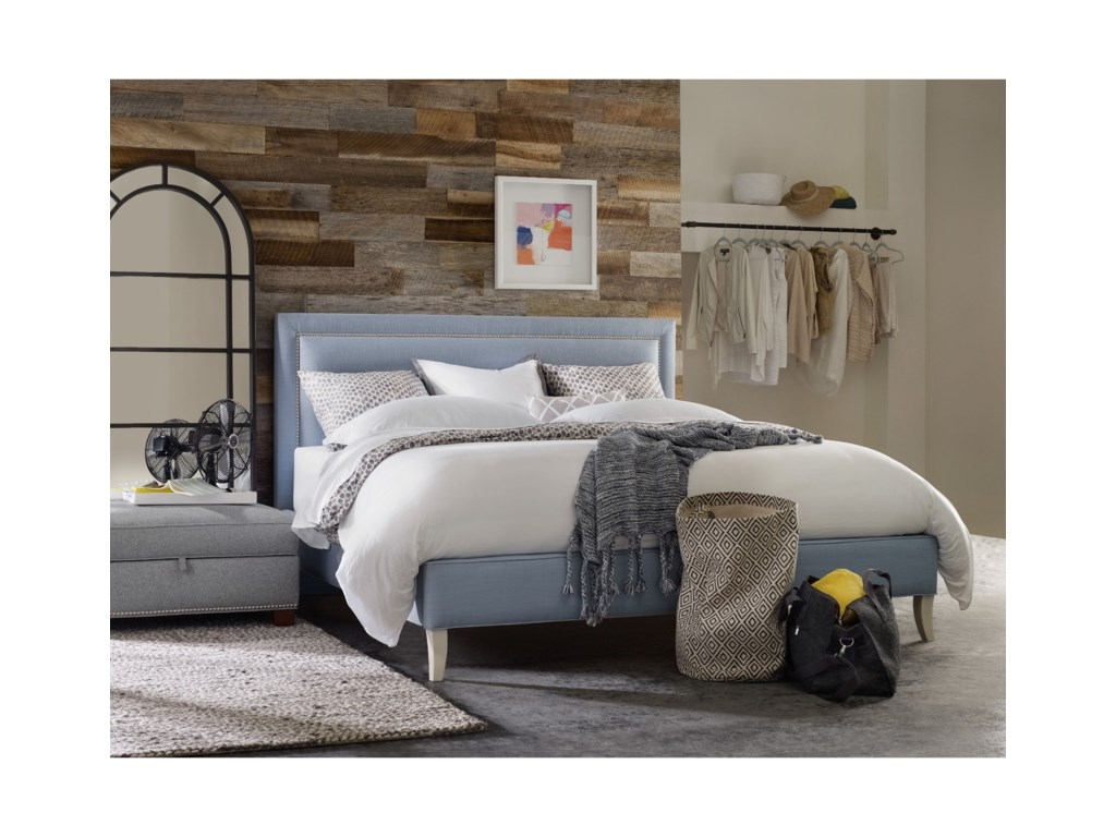 Hooker Furniture Nest TheoryFinch 52in California King Upholstered Bed