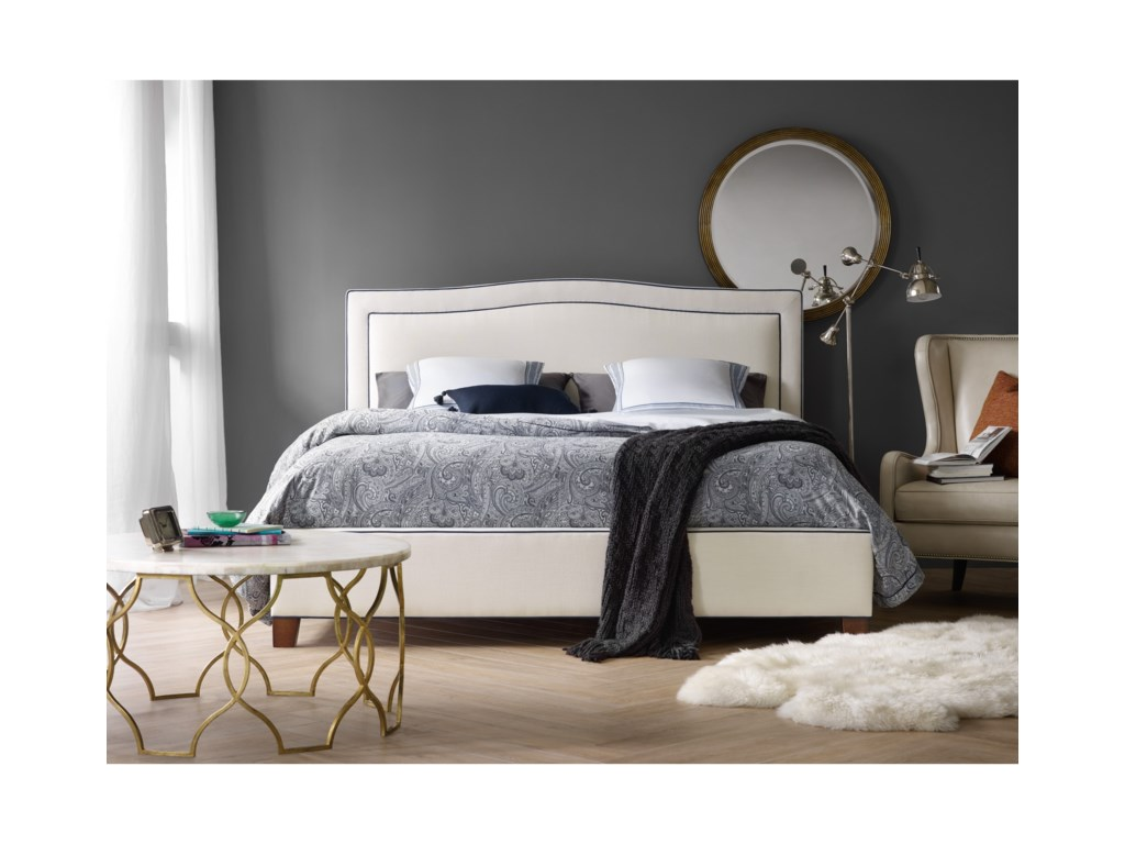 Hooker Furniture Nest TheoryWillow 54in Queen Upholstered Bed