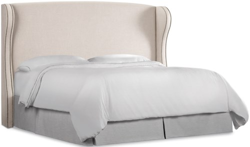 Hooker Furniture Nest Theory Heron 52in Queen Upholstered Headboard