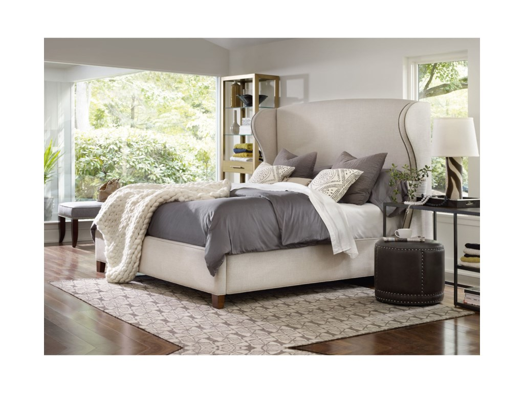 Hooker Furniture Nest TheoryHeron 52in King Upholstered Bed