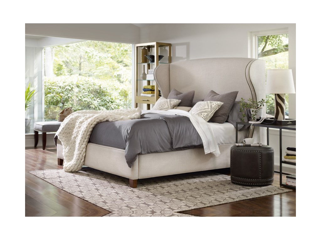 Hooker Furniture Nest TheoryHeron 62in Queen Upholstered Bed
