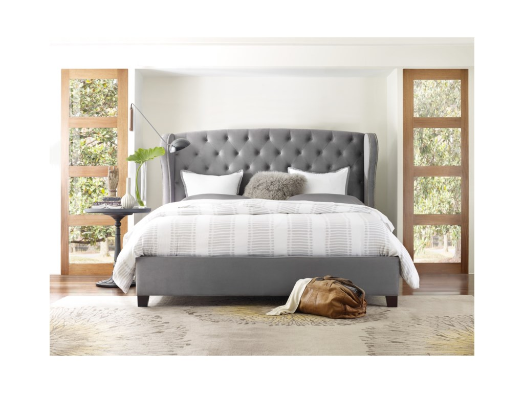 Hooker Furniture Nest TheoryHeron Tufted 62in Queen Upholstered Bed