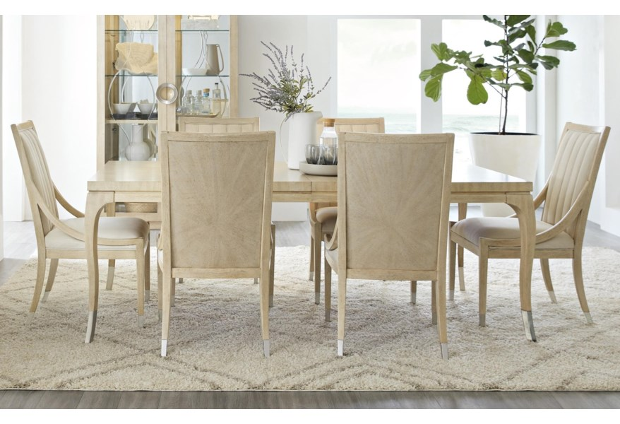 Newport Contemporary Dining Table Set with 6 Chairs by Hooker Furniture at  Dunk & Bright Furniture