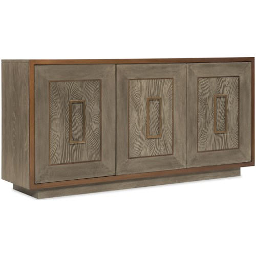 Hooker Furniture Pacifica Three Drawer Accent Chest with Wave Motif