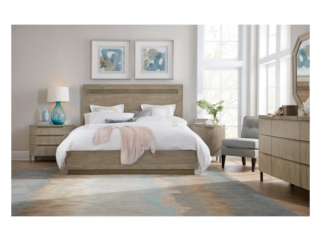 Hooker Furniture PacificaKing Panel Bed