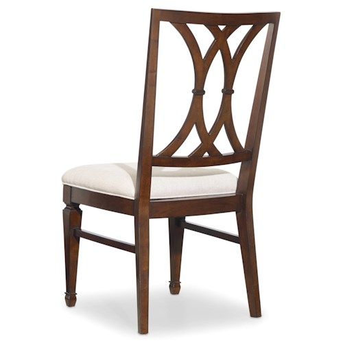 Hooker Furniture Palisade Splat Back Dining Side Chair with Tapered Legs