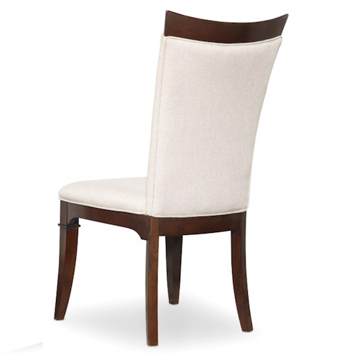 Hooker Furniture Palisade Upholstered Parsons Style Side Chair with Wood Trim