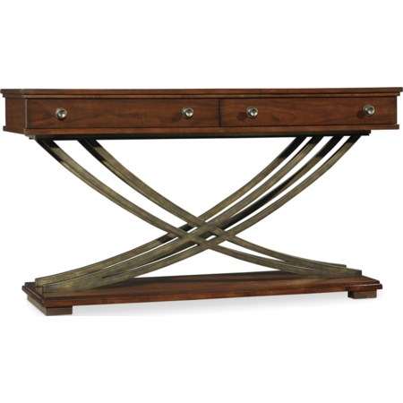 Cross Base Sofa Table