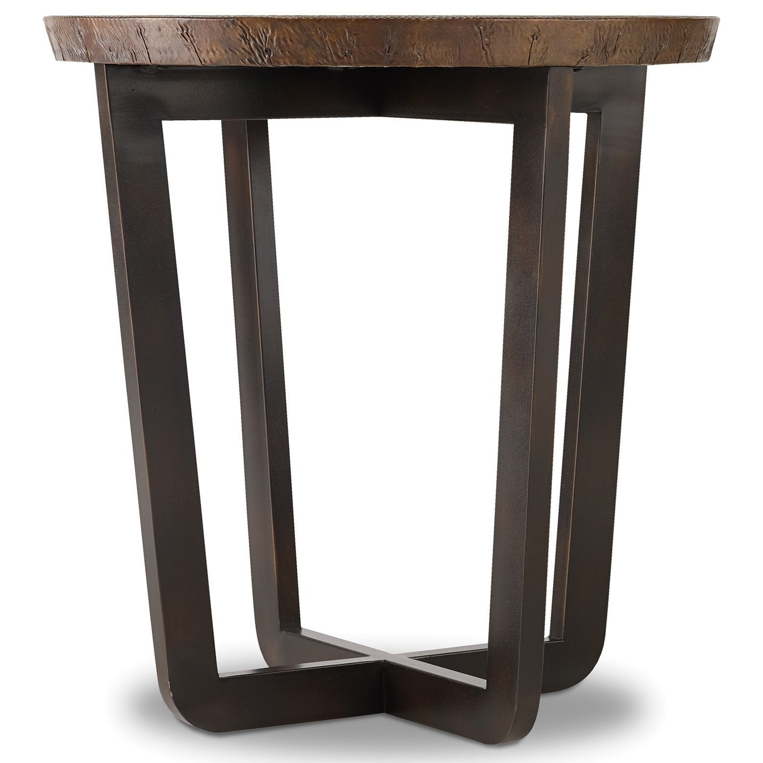 Hooker Furniture Parkcrest Round End Table With Copper Top