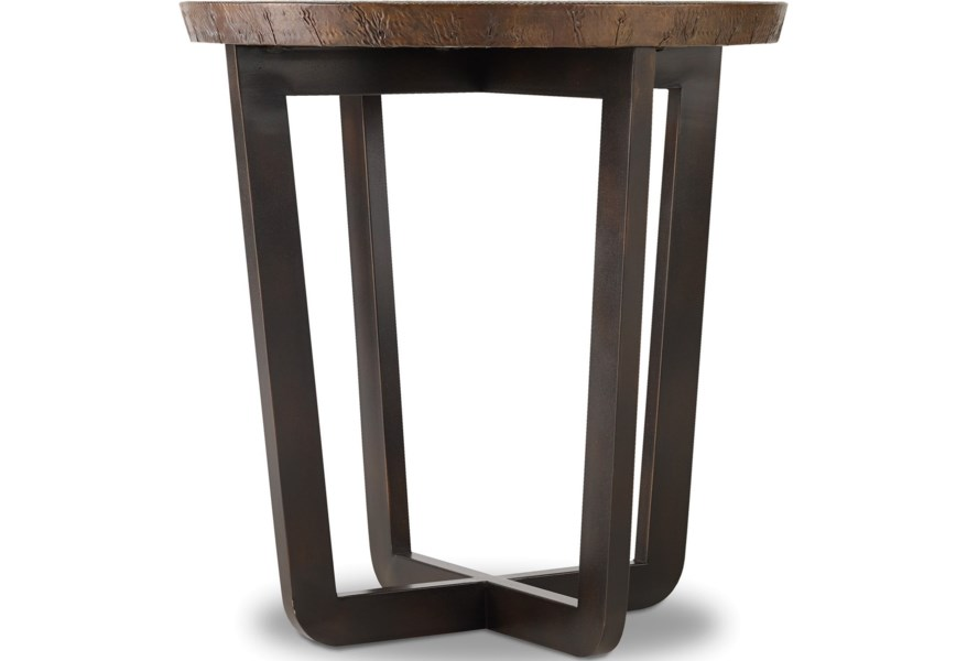 Parkcrest Round End Table With Copper Top By Furniture At Miller Waldrop And Decor