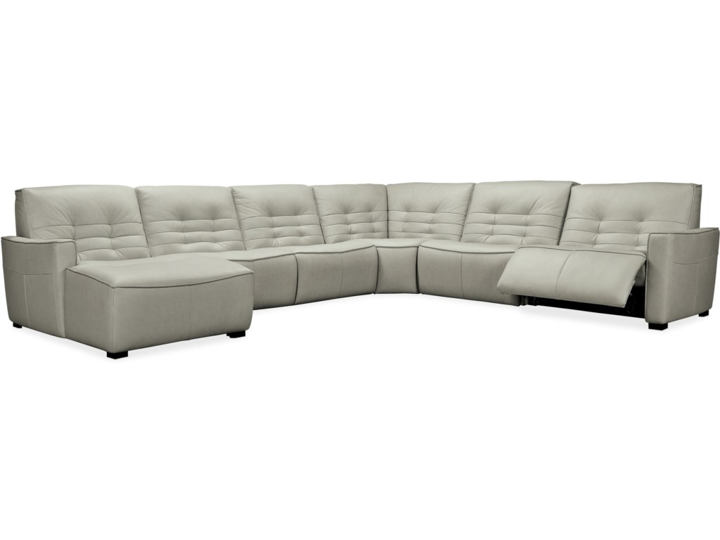 Hooker Furniture Reaux6-Piece Power Sectional with LAF Chaise