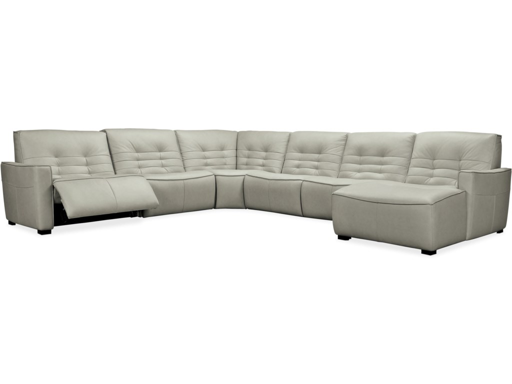 Hooker Furniture Reaux6-Piece Power Sectional with RAF Chaise