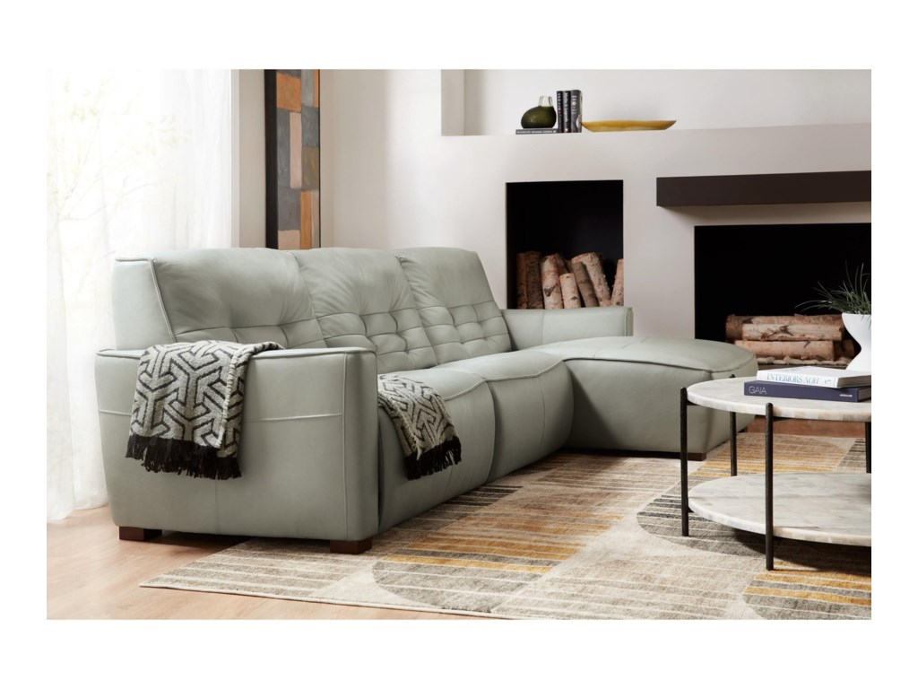 Hooker Furniture ReauxPower Motion Sectional with RAF Chaise