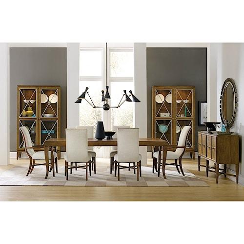 Hooker Furniture Retropolitan Formal Dining Room Group