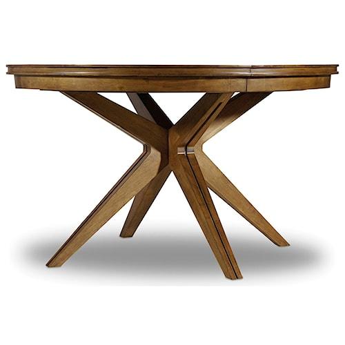 Hooker Furniture Retropolitan Round Dining Table with Leaf