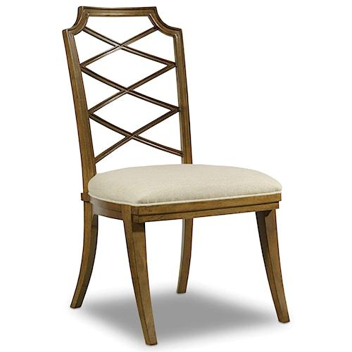 Hooker Furniture Retropolitan Wood Back Side Chair with Unique Design