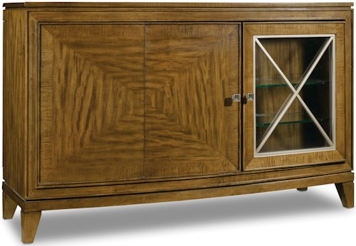 Hooker Furniture Retropolitan Transitional Server with Wine Glass Storage