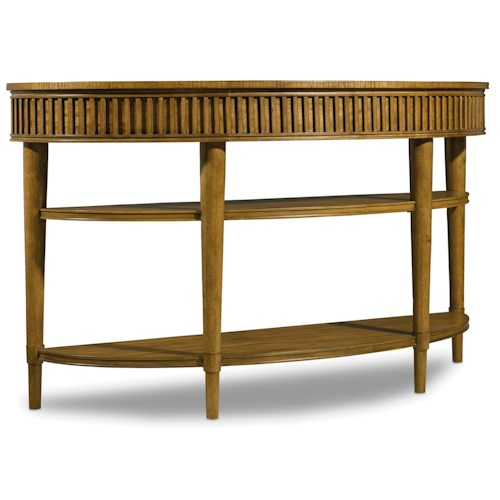 Hooker Furniture Retropolitan Console Table with Two Shelves