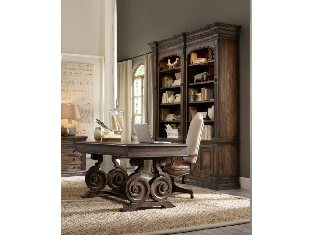 Shown with Double Bookcase, Tilt Swivel Chair and Writing Desk