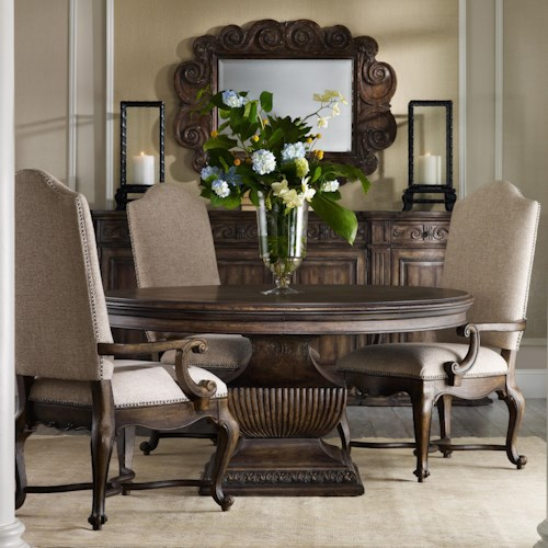 Hooker Furniture Rhapsody 60 Round Pedestal Table And