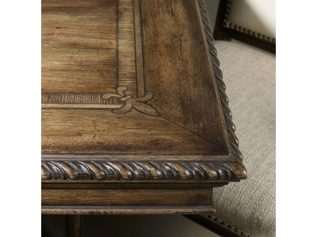 Rope Moulded Border and Acanthus Leaf Parquetry