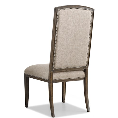 Hooker Furniture Rhapsody Upholstered Dining Side Chair with Picture Frame Back and Nailhead Trim