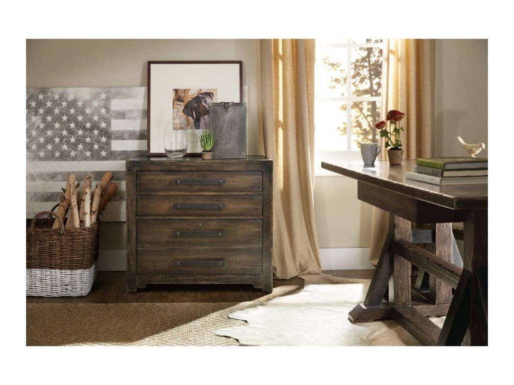 Hooker Furniture American Life - Roslyn CountyThree Drawer Lateral File