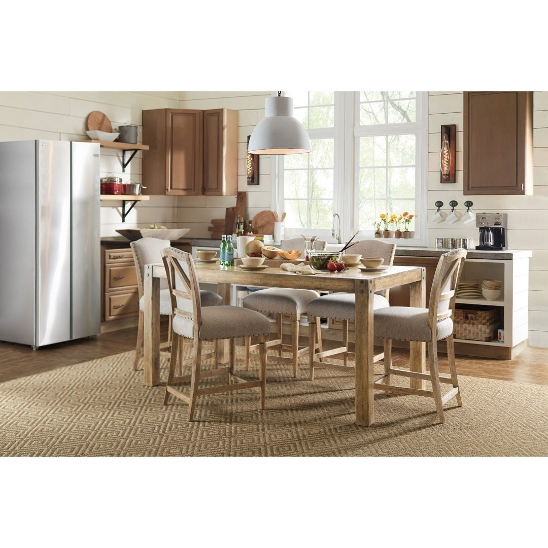 Hooker Furniture American Life   Roslyn County Kitchen Island And Counter  Height Stool Set