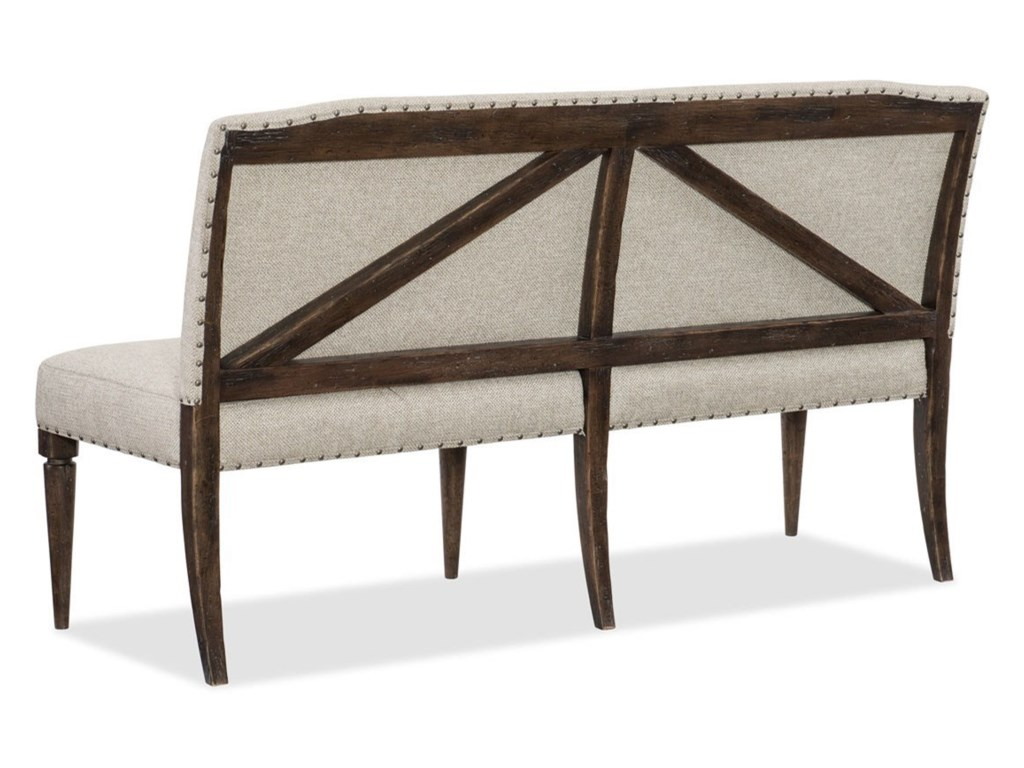 Hooker Furniture American Life - Roslyn CountyUpholstered Dining Bench